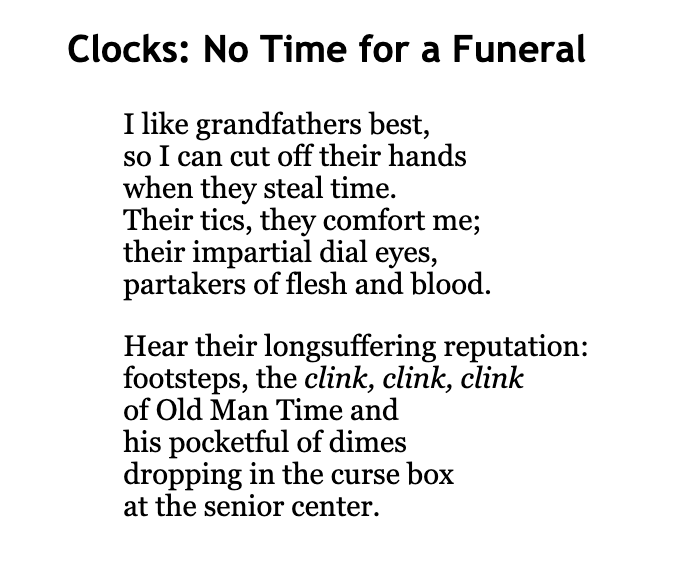 """Clocks: No Time for a Funeral"""