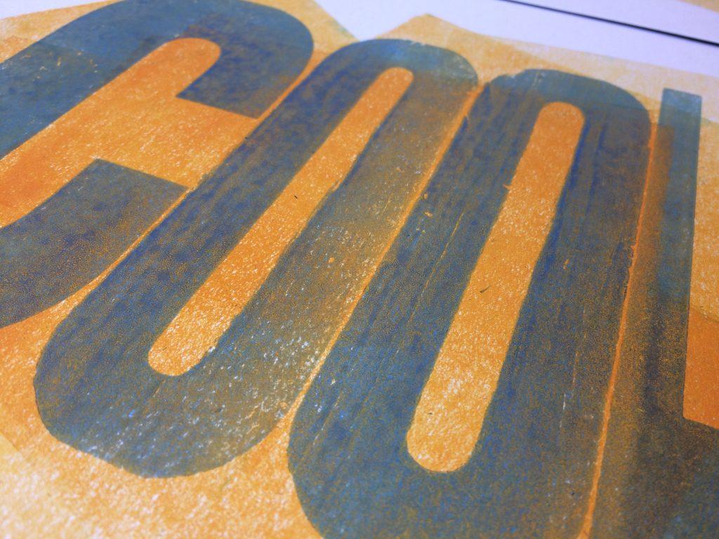 Letterpress Print: Cool