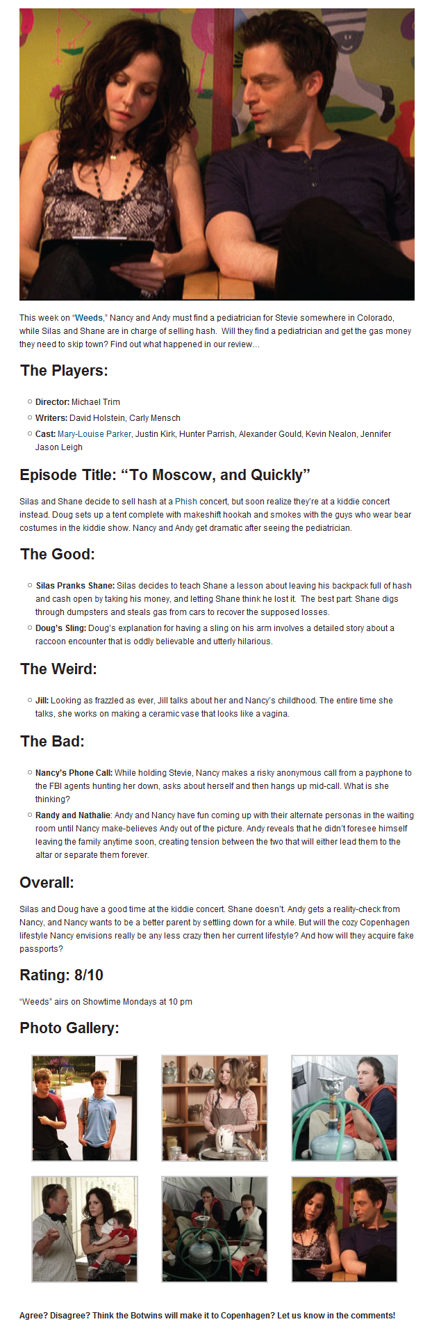 TV Review: Weeds: To Moscow and Quickly (6.9)