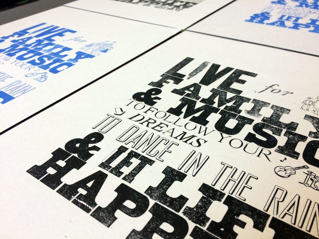 Letterpress Print: Family